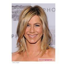 Jennifer Aniston Tousled Long Bob Hairstyle Jennifer Aniston Hairstyles pictures found on Polyvore