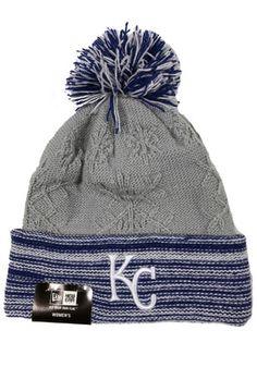 New Era KC Royals Grey Snow Crown Redux Knit Hat
