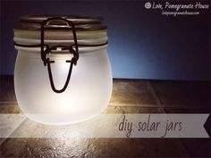 DIY Solar Jars  Great on the patio or as a night light in the bathroom or baby's room. Super easy!