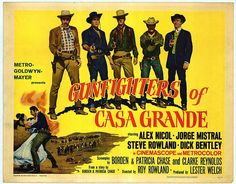 """GUNFIGHTERS OF CASA GRANDE. One of the first westerns shot in Almeria Spain which led to the Italians getting in on it and the phenomenon of Spaghetti Westerns hit with Leone's """"Fistful of Dollars"""" and Corbucci's """"Django.""""  This is one of the first with an American and British crew and Spanish supporting players and extras."""
