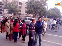 Parents waiting outside school gate, NLC 2013 organized by AVAS INDIA