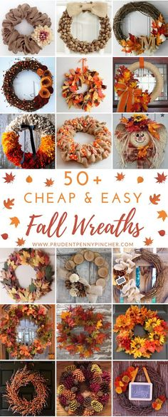 50 Cheap and Easy DIY Fall Wreaths