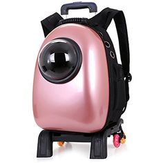 Astronaut Pet Carrier Innovative Pet Knapsack Traveler Bubble Backpack Pet Carriers for Cats and Dogs (Pink) *** You can get additional details at the image link. (This is an affiliate link) #Dogs