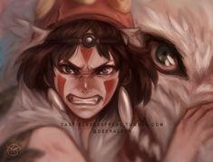 Princess mononoke by DeerAzeen on DeviantArt