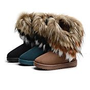 Fur Flat Heel Snow Boots Booties/Ankle Boots ... – USD $ 29.69