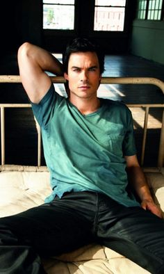 Damon salvatorre (Ian Somerhalder) -vampire diaries (  Well i only watch the series
