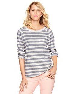 Striped three-quarter sleeve pullover | Gap
