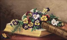 Elizabeth H. Remington (American, «Flowers of Memory Art Floral, Vintage Floral, Pansies, Tulips, Sweet Violets, Closer To Nature, Quilling, Flower Art, Are You Happy