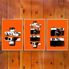 She's a standard, she's a beaut, she's the 7S. Created byThe Poster List,theOrange Cameras Three Pack presents this classic camera from every side in three different prints. A great way toshow your love for an utterly archetypal design, each print comeson sturdy 100-pound paper with a light border and asubtle light gloss finish, these are the perfect posters to adorn a camera enthusiast's wall.