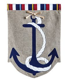 Loving this Anchor Garden Flag on #zulily! #zulilyfinds