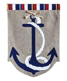 Loving this Anchor Garden Flag on #zulily! #zulilyfinds