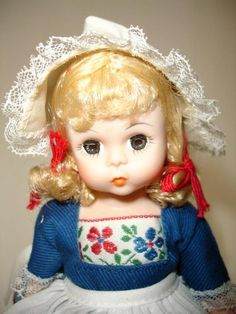 Adorable Netherlands Madame Alexander vintage doll - just relisted on eBay at $8.99 with FREE shipping!