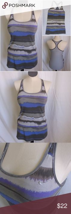 Nike Dri-fit Black & Gray Tank Top Size L Shelf Bra Cropped Hardly Worn C7 2019 Latest Style Online Sale 50% Activewear