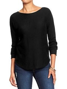 Women's Boat-Neck Curved-Hem Sweaters | Old Navy