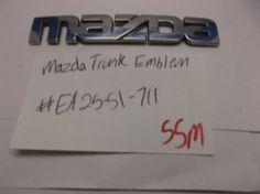Mazda chrome TRUNK EMBLEM nameplate logo badge symbol oem 55M #mazda