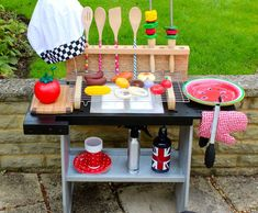 upcycled pretend bbq for kids
