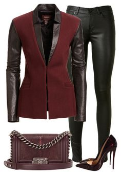 """Untitled #280"" by emsdash ❤ liked on Polyvore featuring Yves Saint Laurent, Danier and Christian Louboutin"