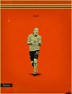 World Cup 2014 - Each Country's Fan Favourite by Jon Rogers, via Behance #soccer #poster #robben