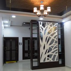 Here you will find photos of interior design ideas. Get inspired! Living Room Partition Design, Living Room Divider, Room Partition Designs, Living Room Tv Unit, Interior Columns, Interior Design, House Arch Design, Peacock Wall Art, Indian Home Interior