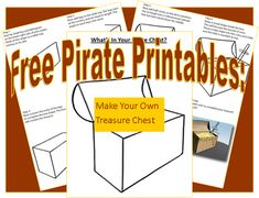 Pirate Printables: Draw Your Own Pirate Chest