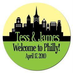 Set of Custom Wedding Stickers     Philadelphia by sweetsanity, $25.00