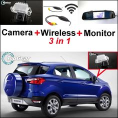 66.27$  Buy here - http://alif3p.worldwells.pw/go.php?t=32467267516 - 3 in1 Special Rear View Camera + Wireless Receiver + Mirror Monitor Parking System For Ford EcoSport 2013~2015