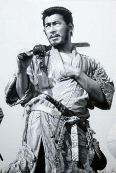Seven Samurai Mural by Masao Hanawa 14M X 26M (46ft X 86ft), hand painted mural at Toho Co. Studio in Japan.