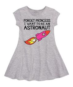 This Athletic Heather 'Astronaut' Fit & Flare Dress - Toddler & Girls is perfect! #zulilyfinds