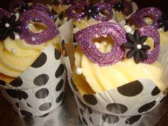 Masquerade Party Ideas | Masquerade Ball Cupcakes | cupcakes2delite