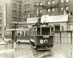 Tram at the Hotel International Prague Transport, More Pictures, Most Beautiful Pictures, Heart Of Europe, Old Paintings, At The Hotel, Timeline Photos, Czech Republic, Old Photos