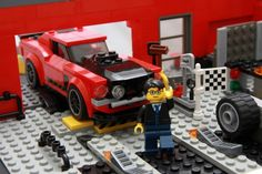 1969 Ford Mustang BOSS 302: A LEGO® creation by marcel urbanija : MOCpages.com Lego Cars, Lego Speed Champions, Ford Mustang Boss, Lego Vehicles, Lego Group, Lego Models, Lego Projects, Everything Is Awesome, Lego Stuff
