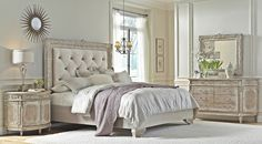 Accentrics Home by Pulaski Furniture Ardenay bedroom inspired french chateau style. | The Decorating Diva, LLC