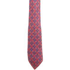 Pre-owned Hermes Printed Silk Tie ($75) ❤ liked on Polyvore featuring men's fashion, men's accessories, men's neckwear, ties, pattern prints, mens silk ties, mens red tie, mens patterned ties, mens ties and mens leopard print tie