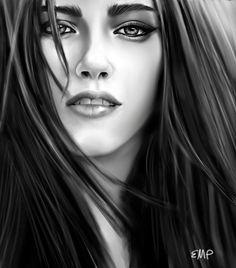 Kristen Stewart Drawing - Twilight-kristen Stewart by Lisa Pence