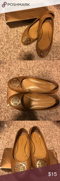 Genuine leather tan flats Audrey Brook tan  color, size 11 flats, very good condition, bought them from another posher but they are to big :(. Audrey Brooke Shoes Flats & Loafers