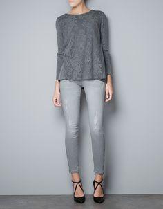 Zara lace knit
