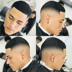 Men's Top 100 Hairstyles Black - Hairstyle Man - - In this new Top 100 black and half-breed men are in the spotlight. After many requests received for hairstyles of black men, we have concocted a little. Black Boys Haircuts, Cool Mens Haircuts, Black Men Hairstyles, Hairstyles Pictures, Curly Hair Men, Curly Hair Styles, Waves Hairstyle Men, Short Fade Haircut, Short Punk Hair