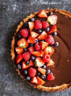 Chocolate + Berry Tart