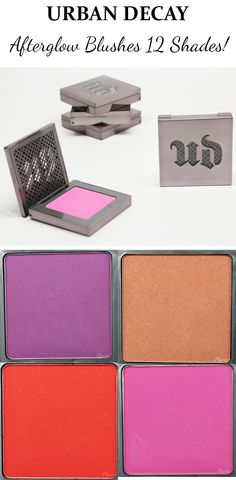 New Urban Decay Afterglow Blushes - 12 shades! Review, video, swatches and looks.