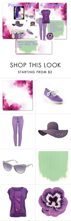 """""""Purple Walk for Epilepsy"""" by pam-arnold on Polyvore featuring Komar, Vans, Boutique Moschino, Charlotte Russe, jon & anna, Nourison and Pomellato"""