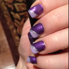 Purple nails :) I like these, but with black where the light purple is.