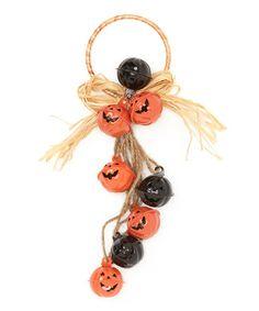 Black & Orange Pumpkin Bell Door Hanger #zulily #zulilyfinds