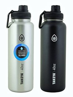 Takeya ThermoFlask 2 Pack 40 oz Black and Silver *** You can get additional details at the affiliate link Amazon.com.