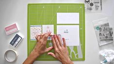 Cómo estampar con sellos acrílicos a dos tintas