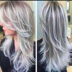 Gray Hair Highlights, Platinum Highlights, Highlights 2016, Natural Highlights, Bright Highlights, White Hair With Lowlights, Covering Gray Hair, Low Lights Hair, Light Hair