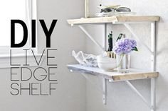 ... edge wood wall shelves bring both design and function to your walls