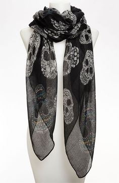 BP. Sugar Skull Sheer Scarf