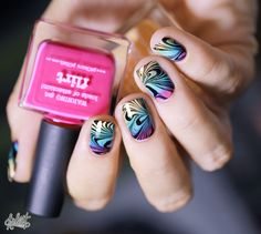 Nail art Gradient & Water Marble // Le test !