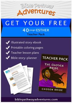 Esther – The Chosen Bride Girls Bible, Bible Stories For Kids, Bible For Kids, Bible Resources, Bible Activities, Story Of Esther, Teacher Lesson Plans, Free Bible, Puzzles For Kids