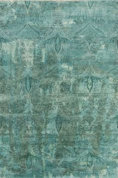 Divine antiqued washed teal Cheshire rug from Surya (CSH-6003).